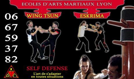 Elèves arts martiaux lyon